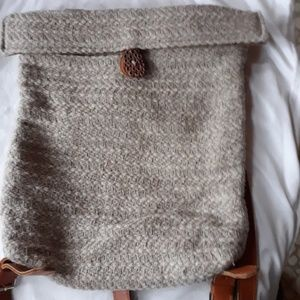 Maria LaRosa wool backpack Made in Italy